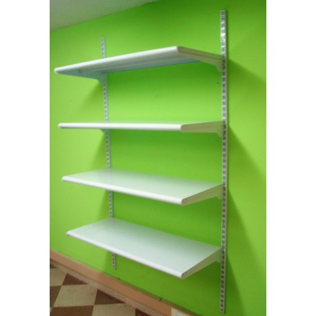 Estanter a met lica cremallera pared 4 estantes - Estantes de pared originales ...