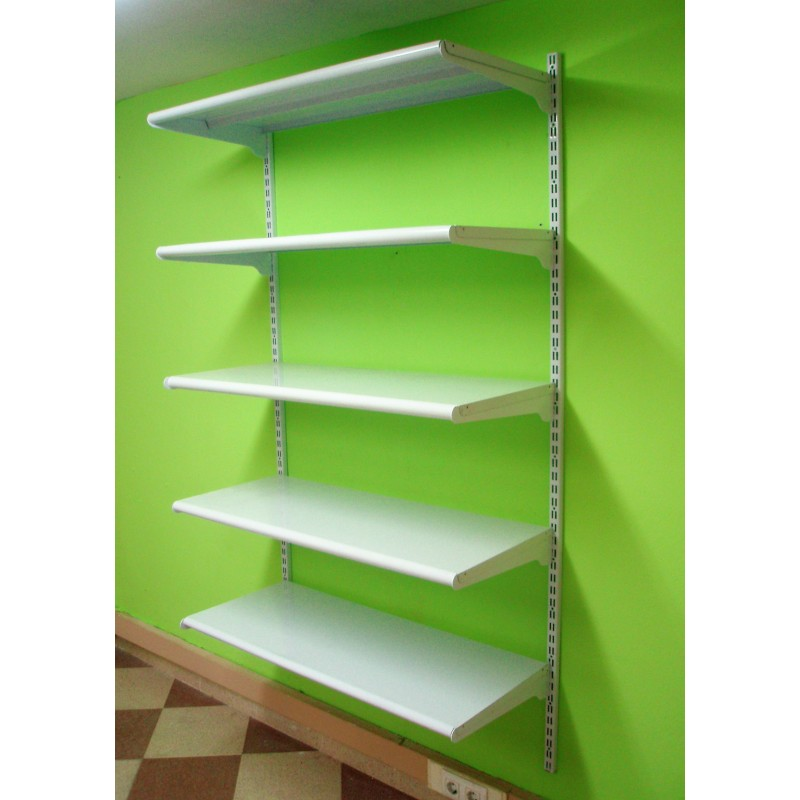 Estanter a met lica cremallera pared 5 estantes - Estantes de pared originales ...