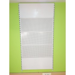 Cremallera pared estanterias lobo - Panel perforado blanco ...