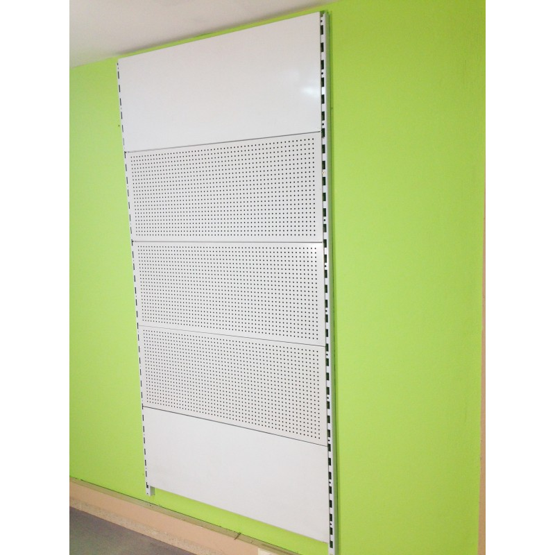 Estanter a cremallera pared panel fondo perforado - Panel perforado blanco ...